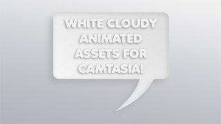 Camtasia White Cloudy Animated Presentation Templates