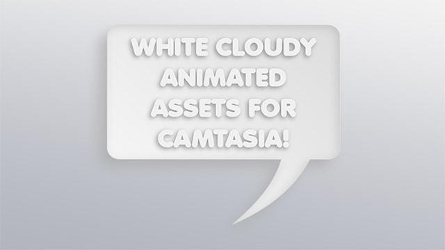 Camtasia White Cloudy Animated Presentation Templates