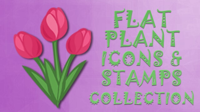 Plants Icon Collection Flat
