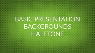Basic Presentation Backgrounds – Halftone