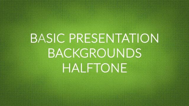Basic Presentation Backgrounds – Halftone