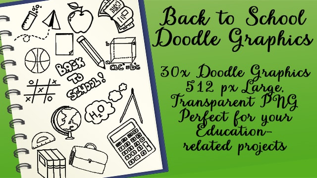 Back to School Doodle Graphics