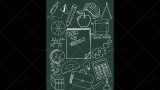 Back to School Doodle Poster  04 Chalkboard Portrait