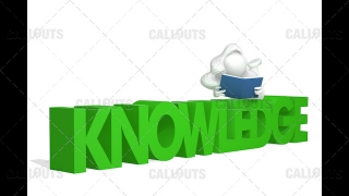 3D Girl Lying on Knowledge Text Reading Book White Background