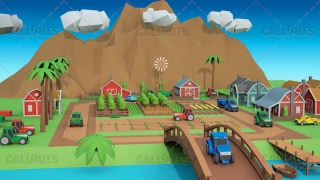 Farm Concept 03 Polygon Styled Presentation Image – Farm Overview