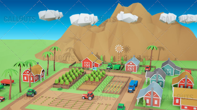 Farm Concept 04 Polygon Styled Presentation Image – Farm Overview