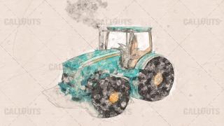 Tractor Design Concept Presentation Image