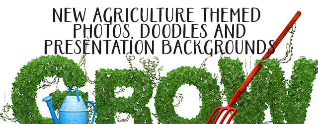 New Agriculture/Farm Doodle and Photos Presentation Assets