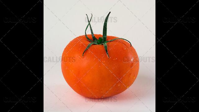 Washed Tomato on White Background