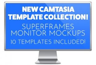 New Camtasia Monitor Mockup Assets and New Basic Presentation Backgrounds