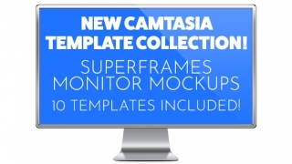 Camtasia SuperFrames Monitor Mockup Template Collection