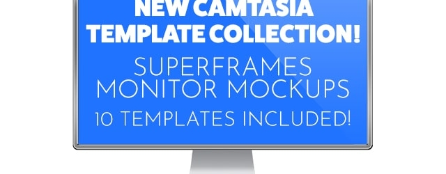 New Camtasia Monitor Mockup Assets and New Basic Presentation Backgrounds