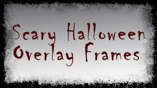 Scary Halloween Overlay Frame Graphics