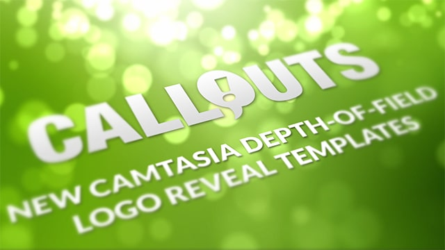 Camtasia Depth-of-Field Logo Intro Template Collection