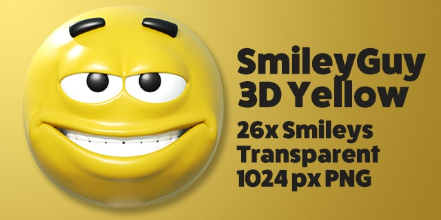 SmileyGuy Yellow 3D Smileys Emoticons