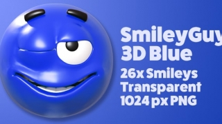 SmileyGuy Blue 3D Smileys Emoticons