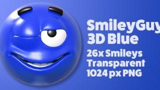 SmileyGuy Blue 3D Smileys Emoticons