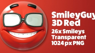 SmileyGuy Red 3D Smileys Emoticons