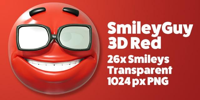 SmileyGuy Red 3D Smileys Emoticons