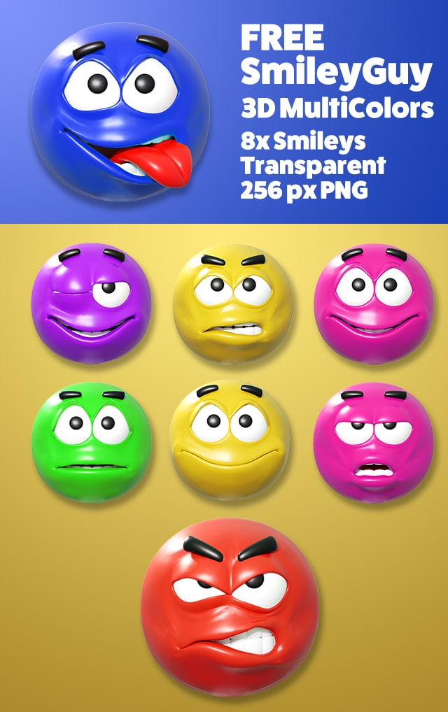 New Emoticon/Smiley Video and Graphics Assets – Callouts