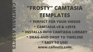 Camtasia Templates – Frosty Animated Titles/LowerThirds with Transition