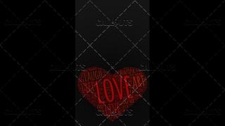 Love Wordart Poster Vertical on Dark Background