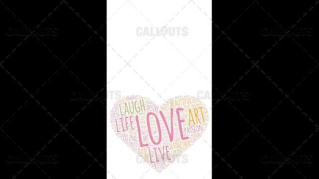 Love Wordart Poster Vertical on White Background