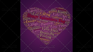 Happy Valentine's Day Poster Square on Purple Background