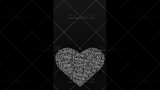 Happy Valentine's Day Poster Vertical on Dark Background