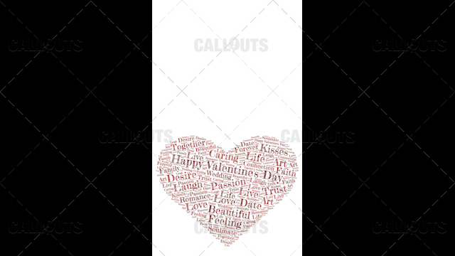 Happy Valentine's Day Poster Vertical on White Background