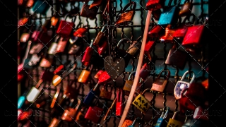 Clolorful Love Locks on Bridge