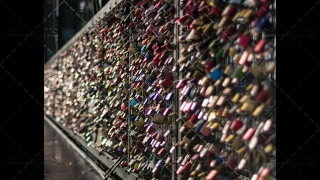 Love Locks on Bridge Bokeh Effect 2