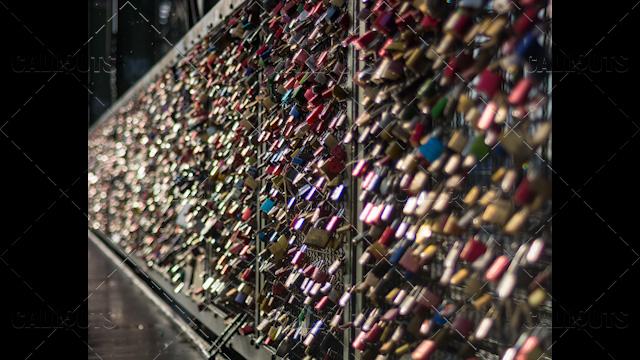 Love Locks on Bridge Bokeh Effect 2