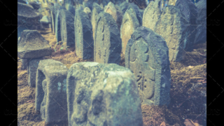 Japanese temple headstones