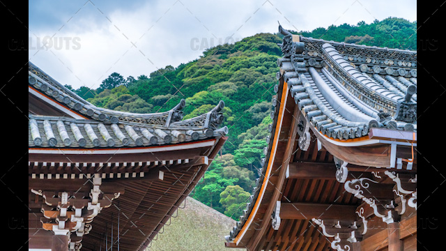 Buddhist temple roof Japan