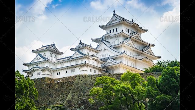 Himeji Castle, a hilltop Japanese castle by the city of Himeji, Hyōgo Prefecture, Japan