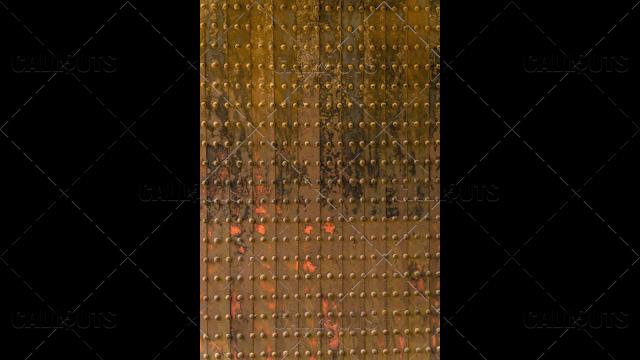 Japanese castle door from fourteenth century texture