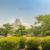 Himeji Castle garden, a hilltop Japanese castle by the city of Himeji, Hyōgo Prefecture, Japan.