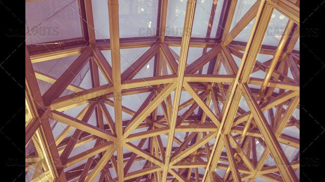 Kyoto Train Station metal construction roof 02