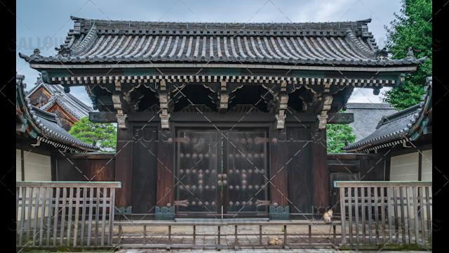 Kyoto Temple entrance, Japan