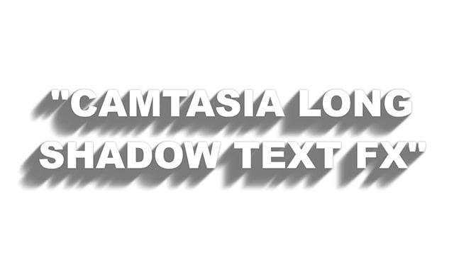 Camtasia Long Shadow FX Template
