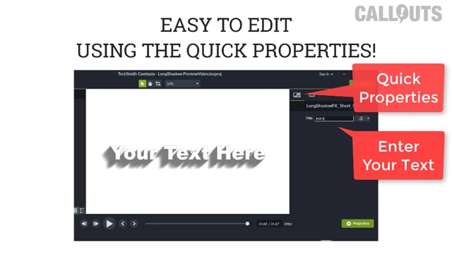Edit in Quick Properties