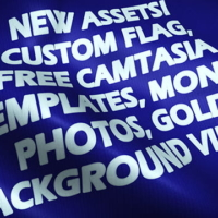 New Custom Flag Project, Free Camtasia Templates, and Money Themed Photos and Videos