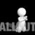 Man Kneeling and Praying 3D Animation on Black Background