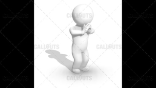3D Guy Standing and Praying