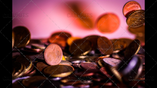 Coins Raining Down and Bouncing