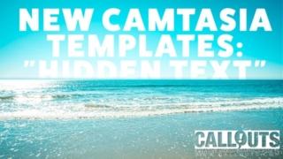 Camtasia Hidden Text Effect Templates