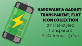 Hardware and Gadgets Flat Icons No Background