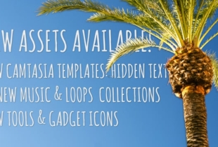 """New """"Hidden Text"""" Camtasia Templates, Gadget Icons and Music Loops"""
