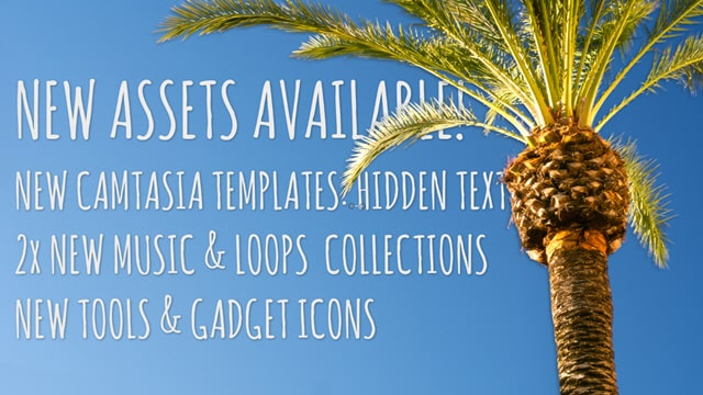 "New ""Hidden Text"" Camtasia Templates, Gadget Icons and Music Loops"